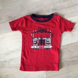 Carter's Toddler Boy Fire Truck Pajama Shirt 2T